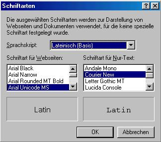 Altgriechische schrift in html dateien unicode