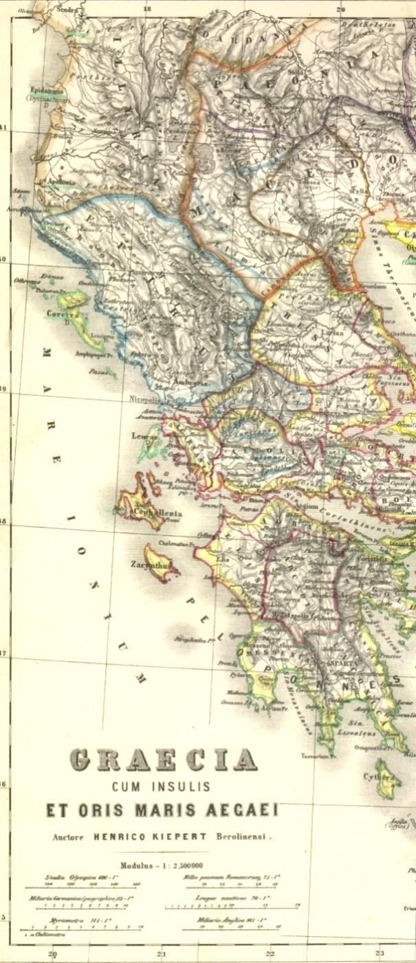 Landkarte Vom Nord Balkan Thrakien Im Lateinischen Link